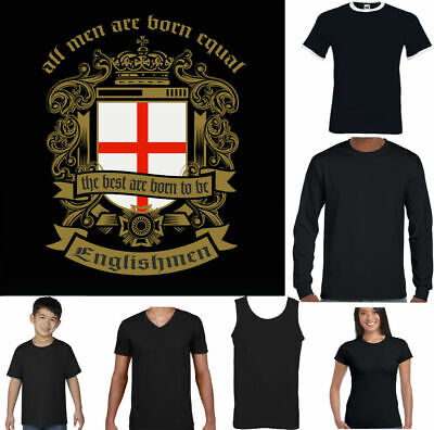 £9.99 • Buy ENGLAND T-SHIRT Mens English Flag Football St. Georges Day Men Are Born Equal