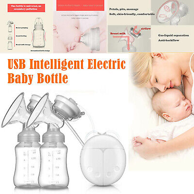 View Details USB Electric Breast Double Pump Hand Free Automatic Intelligent Safe Baby Feeder • 18.39£