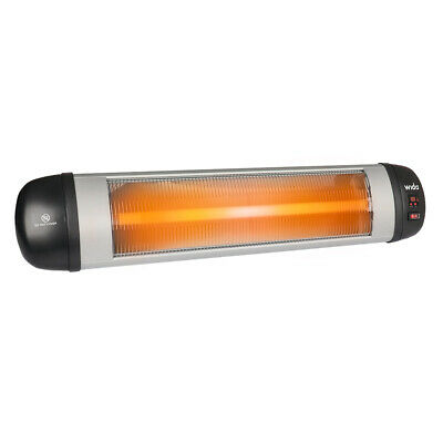 INFRARED PATIO HEATER WALL MOUNTED REMOTE CONTROL OUTDOOR GARDEN 2KW  Wido • 39.99£