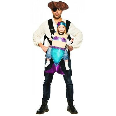 $26.34 • Buy Pirate And Mermaid Baby Carrier Costume Halloween Fancy Dress