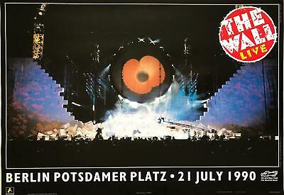 $83.95 • Buy Pink Floyd The Wall Live In Berlin 1990 Vintage Concert Poster 24.5 X 35.5