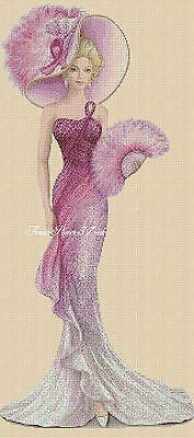 Cross Stitch Chart  Elegant Lady 156T Full Length     Flowerpower37-uk • 3.75£