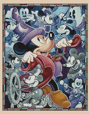 £4.50 • Buy Cross Stitch Chart Mickey Mouse Through The Ages Flowerpower37-uk.