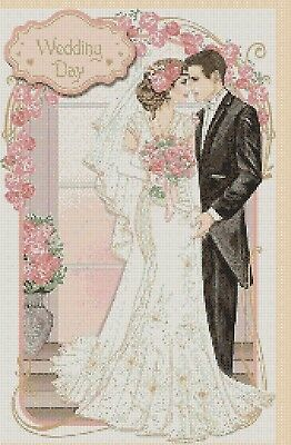 Cross Stitch Chart Art Deco Lady Wedding Day 265 FlowerPower37-UK  • 3.50£