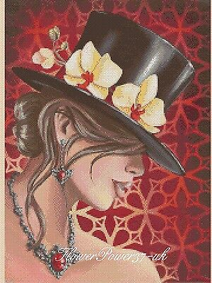 Cross Stitch Chart Elegant Lady  No 192c FlowerPower37-uk • 3.75£