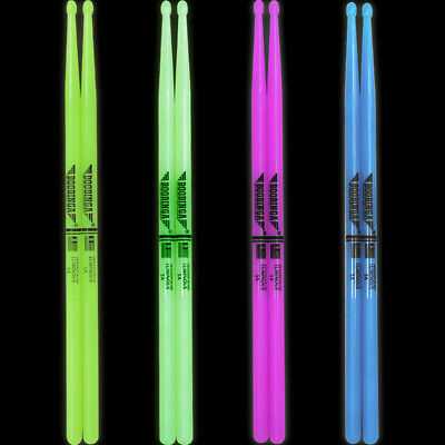 AU24.08 • Buy 5A/7A Drum Sticks Glow In The Dark Stage Percussion Band Musical Instrument