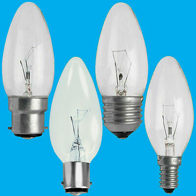 £10.98 • Buy 10x Clear Candle Dimmable Standard Light Bulbs 25W 40W 60W BC ES SBC SES Lamps