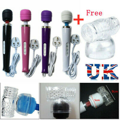30 Speed Vibrating Powerful Magic Wand Wired Full Body Sports Massager 4 Colors • 13.29£