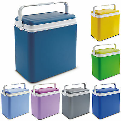 Large 24 Litre Cooler Box Camping Beach Lunch Picnic Insulated Food Ice Packs • 14.99£