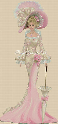 Cross Stitch Chart   Elegant Lady 156S Full Length     Flowerpower37-uk • 3.75£