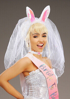 £14.99 • Buy Hen Party Bride To Be Bunny Ears With Veil