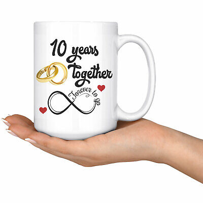 10th Wedding Anniversary Gift For Him And Her Married For 10 Years • 12.15£