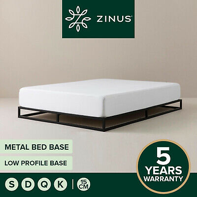 AU139 • Buy Zinus Joesph Bed Base QUEEN DOUBLE KING SINGLE Low Metal Frame