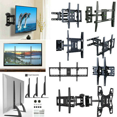 $28.98 • Buy Durable 22-70 Inch Full Motion/ Fixed TV Wall Mount Bracket/ Tabletop Base Stand