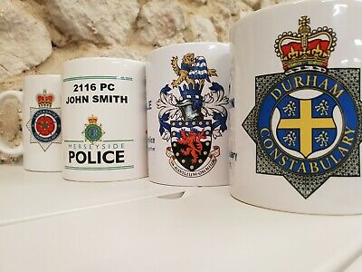 Personalised Police Officer Cup Mug Retirement / Joining Gift All Constabularies • 9.99£