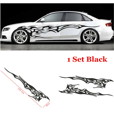 $21.42 • Buy  Universal Car Body Decal Vinyl Flame Graphics Side Stickers Racing Sport Decals