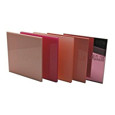 Pink Colour, Frosted & Mirror Perspex Acrylic Sheets - 3mm & 5mm Thickness • 32.71£