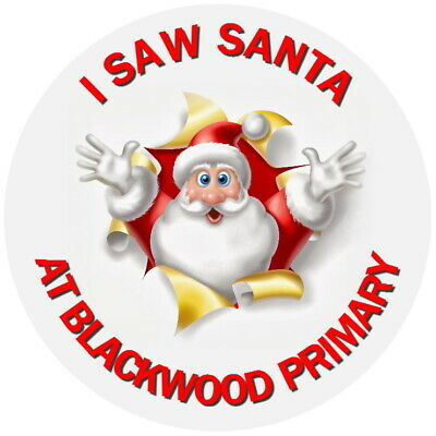 £2.40 • Buy  Personalised I Saw Santa Gloss Christmas Grotto School Business Stickers