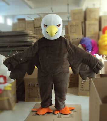 Halloween Bald Eagle Mascot Costume Cosplay Party Clothing Carnival Adults • 204.79£
