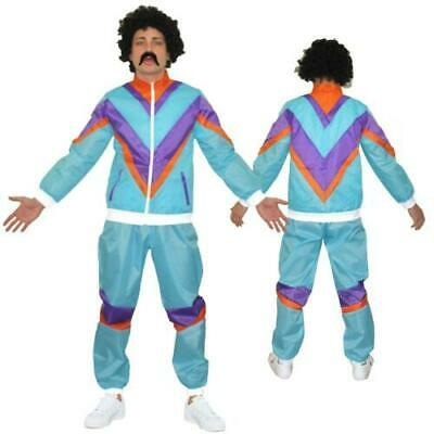 80s Mens Adult 80s Scouser Shell Suit Fancy Dress Costume Tracksuit Stag Do Lot • 12.99£