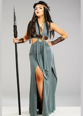 $ CDN89.44 • Buy Womens Halloween Viking Warrior Maiden Fancy Dress Historical Costume