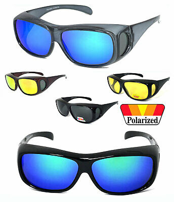 1 Or 2 Pairs FIT OVER Sunglasses Polarized Lens Cover Rx Glasses UV Protect • 14.32£