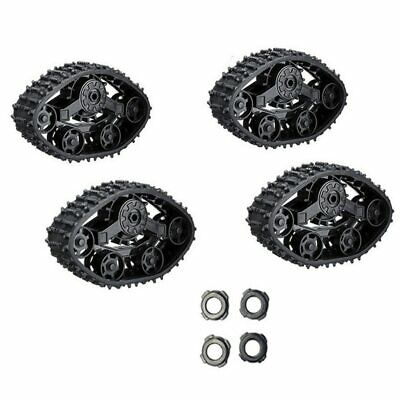 $29.73 • Buy 4Pcs Rubber Track Wheel Snow Tire Durable Parts Military Truck RC Car DIY