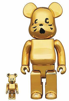 $299.99 • Buy NYA Flocky Bearbrick Gold Plated Version 400% & 100% 2 Pack Medicom