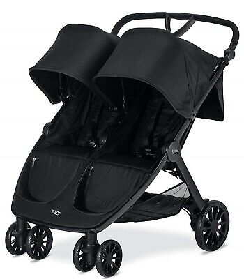 Britax B-Lively Lightweight Quick Fold Twin Baby Double Baby Raven NEW • 264.46£