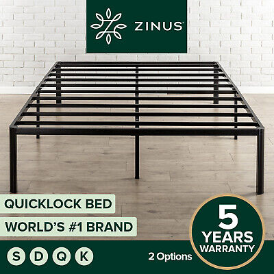 AU149 • Buy Metal Bed Frame Queen Double King Single Mattress Base Platform -Zinus QuickLock