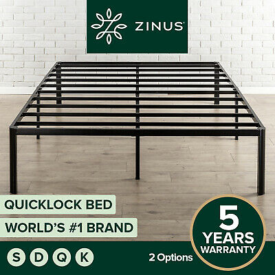 AU139 • Buy Zinus QuickLock SINGLE DOUBLE QUEEN KING Bed Base Mattress Metal Frame Platform