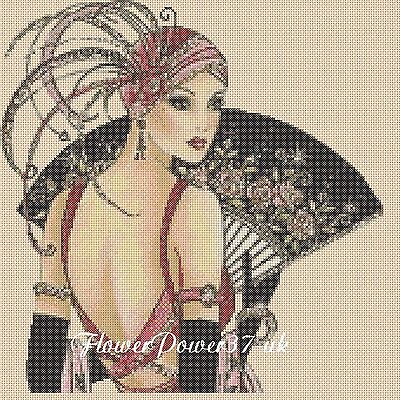 Art Deco Lady Cross Stitch Chart  Art Deco Lady 11   FlowerPower37-Uk • 3.50£