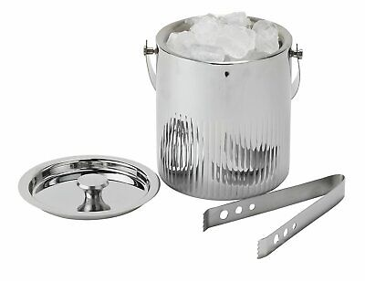 Argos Home Renaissance Stainless Steel Ice Bucket And Tongs • 8.99£