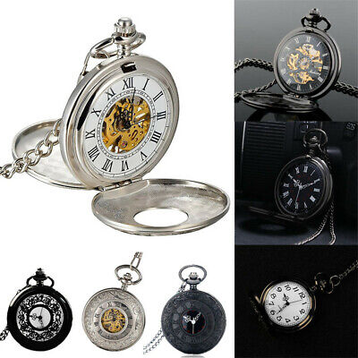 Victorian 1920s Steampunk Pocket Watch Fancy Dress Costume Quartz Watch Mens Boy • 14.94£