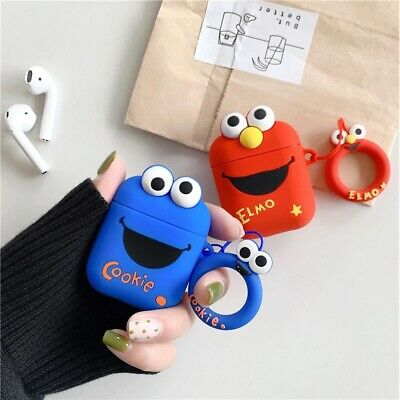 $ CDN7.20 • Buy Apple Airpods Case Sesame Street Elmo Cookie Monster Earphone Airpod Cover  NEW!