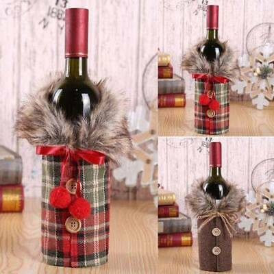 £1.75 • Buy Fancy Santa Claus Outfit Christmas Wine Bottle Bag Cover Xmas Table Decor NEW