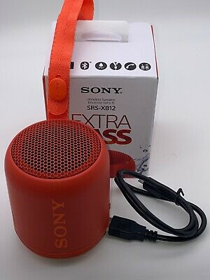 $27.99 • Buy SONY SRS-XB12 Extra Bass Bluetooth Compact Portable Speaker (SRS-XB12/BC)-Red
