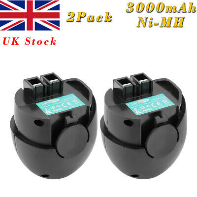 2Pcs 3.0AH 4.8V Ni-MH Battery For Metabo Powermaxx Powergrip II 60005952 6.27270 • 22.91£