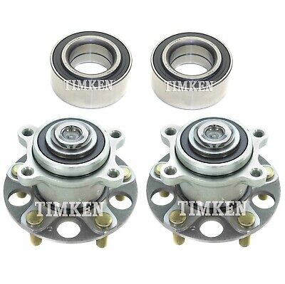 $300.60 • Buy Front And Rear Wheel Bearings & Hubs Kit Timken For Acura TSX Honda Accord FWD