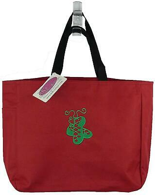 $14.35 • Buy Irish Dance Shoes Green Pomp Ghillies Monogram Bag Red Essential Tote Gift NWT!