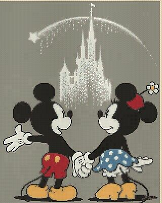 £4.50 • Buy Cross Stitch Chart  Mickey Mouse & Minnie Wish Upon A Star Flowerpwoer37