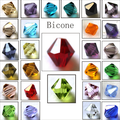 $ CDN2.40 • Buy Wholesale Crystal Glass Bicone Faceted Loose Spacer Beads 4mm 6mm U Pick