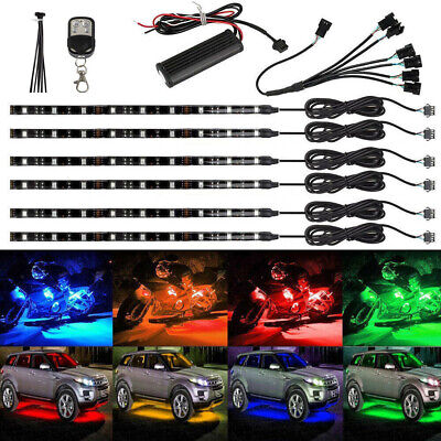 $28.29 • Buy 6Pcs LED Multi-Color Neon Atmosphere Light Flexible Strip RGB For Motorcycle Car