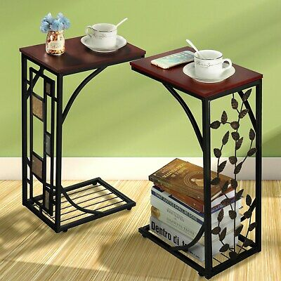 £17.89 • Buy C Shaped Sofa Side Table Snack/Coffee End Table For Living Room/Bedroom Home