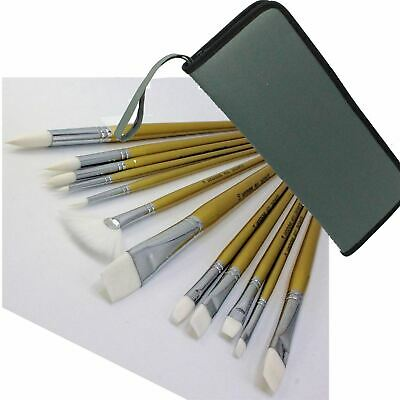 £15.59 • Buy Royal & Langnickel Paint Brush Set Better Quality Long Handle Set With Case