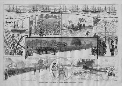 Ships Fleet Nautical Incidents Of The Naval Military Review At Fortress Monroe • 50.15£
