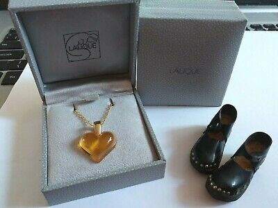 Lalique Pendant Beautiful Colour Pretty Amber With Hallmarked 18ct Gold Plate  • 129.99£