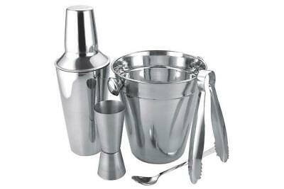 New Stainless Steel Classic Cocktail Bar Shaker Mixer Shot Glass Maker Set Kit • 9.90£