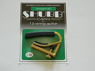 $ CDN26.28 • Buy Shubb Capo 12 String Acoustic Guitar C3B BRASS ~New~ Free U.S. Shipping
