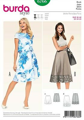 6766 LADIES SKIRTS Burda Dressmaking Sewing Pattern Sizes 10 - 20 In 4 Designs • 7.49£